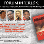 "Public Forum : ""Interlok : In Between Literature, Education and Race Relationship"""